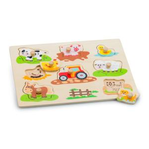 New Classic Toys Peg Puzzle, Farm