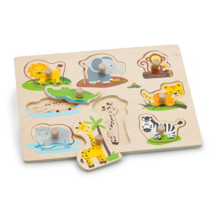 New Classic Toys Peg Puzzle, Safari