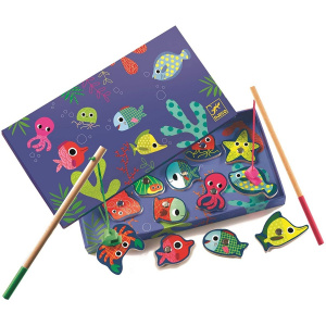 DJECO Magnetic Fishing Game, Colour