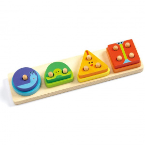 DJECO 1234 Basic Wooden Puzzle