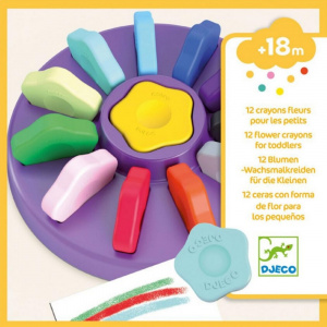 Djeco Flower Crayons, 12pcs