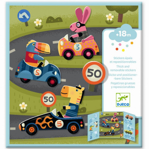 DJECO Removable Stickers - Cars
