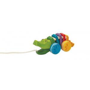 """PlanToys järeltõmmatav mänguasi """"Krokodill"""""""