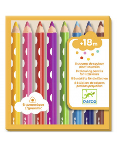DJECO Colouring Pencils, 8pcs