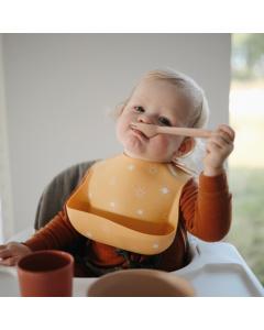 Mushie Silicone Baby Bib Colour