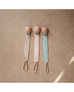 Mushie Fabric Pacifier Clip